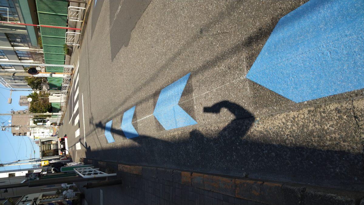 自転車は左側通行です。
